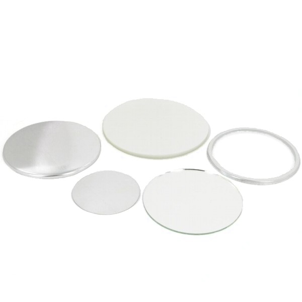 "3"" Round Mirror Button Complete Set"