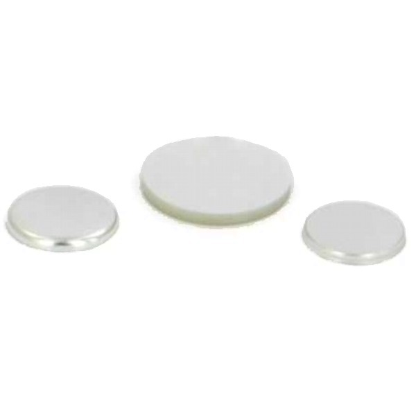 "1"" Round Flat Metal Button Complete Set"
